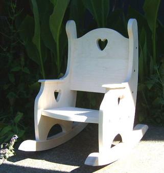Child's Rocking Chair, Hardwood Unfinished
