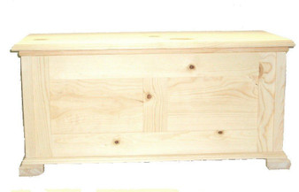 Unfinished Pine Hope Chest w/Cedar Lining