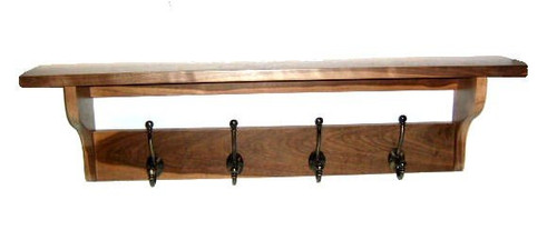 Hardwood Coatrack/Shelves