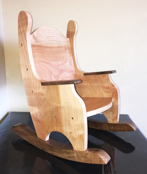 Child's Rocking Chair, Solid Pacific Maple and Black Walnut(ships 2-3 weeks)