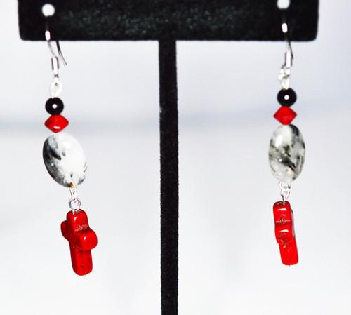 Earrings/ Red Cross