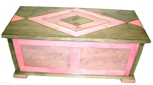Designer Stained Cedar Lined, Pine Hope Chest