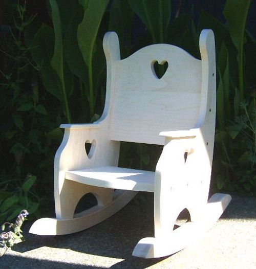 Child's Rocking Chair, Hardwood Unfinished(ships 2-3 weeks)