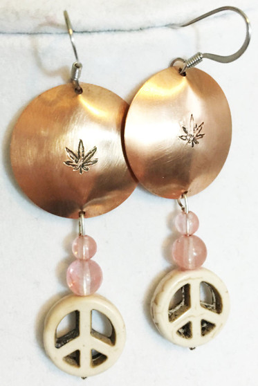 Peace and Cannibus Earrings