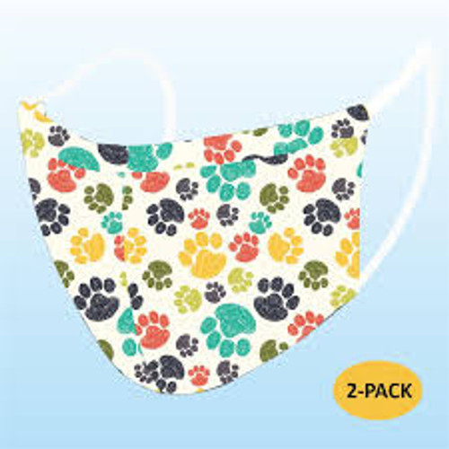 Paw Print Reusable Face Mask 2 pack