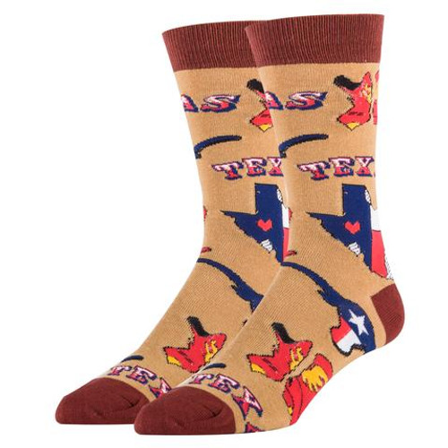 Texas love Mens crew socks