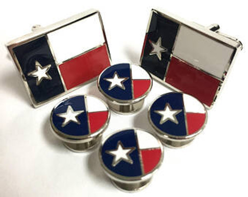 Texas tux cuff links and studs