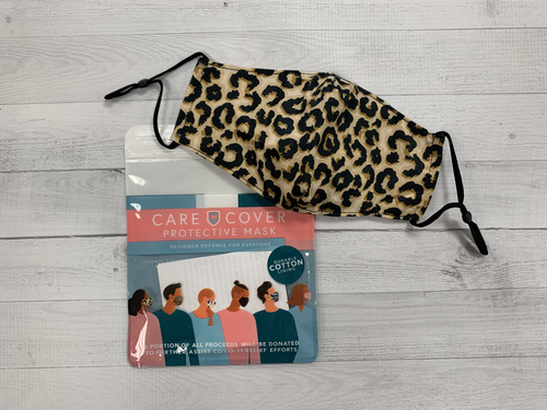 Care Cover Face Mask Leopard Print