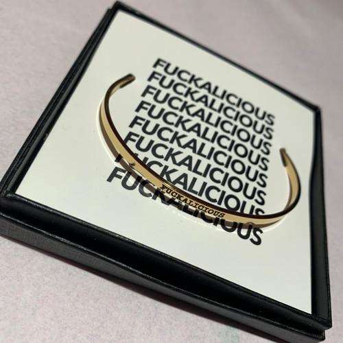 Fuckalicious gold bangle