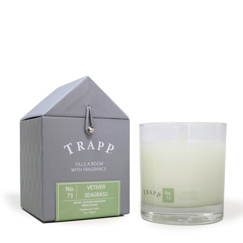 #73 vetiver seagrass large pour candle