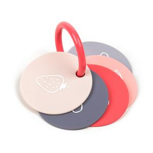 Fruit flash cards teether