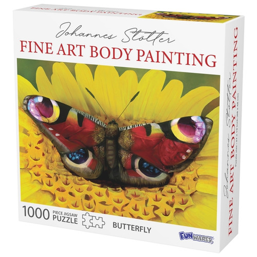 Butterfly body art puzzle