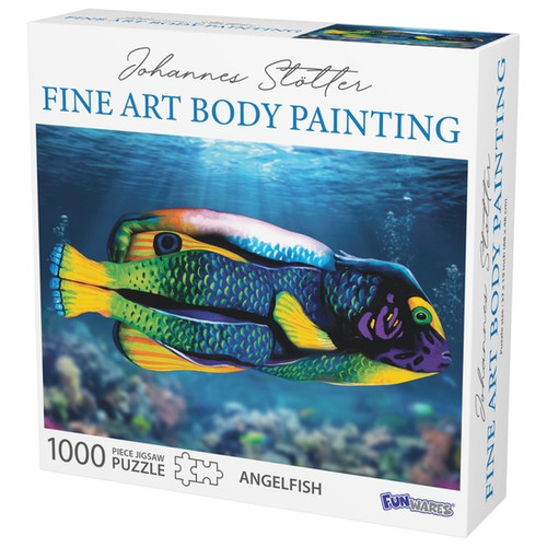 Angel fish body art puzzle