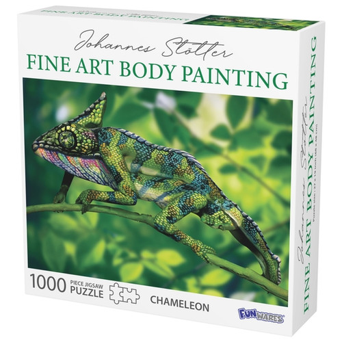 Chamaeleon body art puzzle