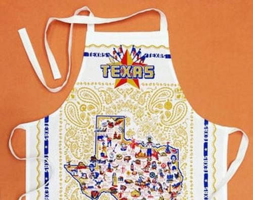 Texas map apron