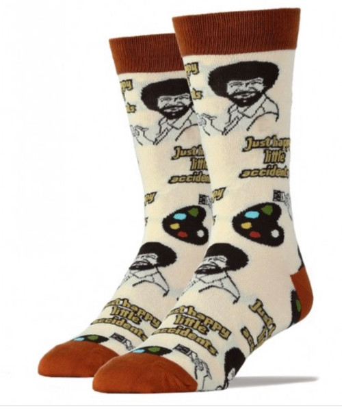 Bob Ross happy lil accidents women's  socks