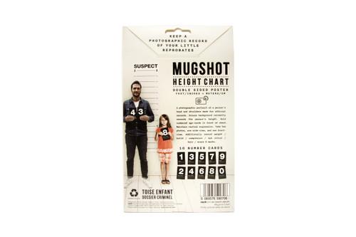 Mug shot height chart