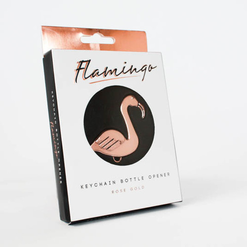 Flamingo keychain bottle opener