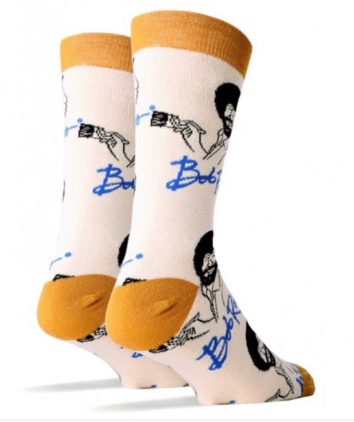 It's Bob Ross women's crew socks