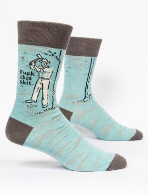 Fuck this shit mens socks