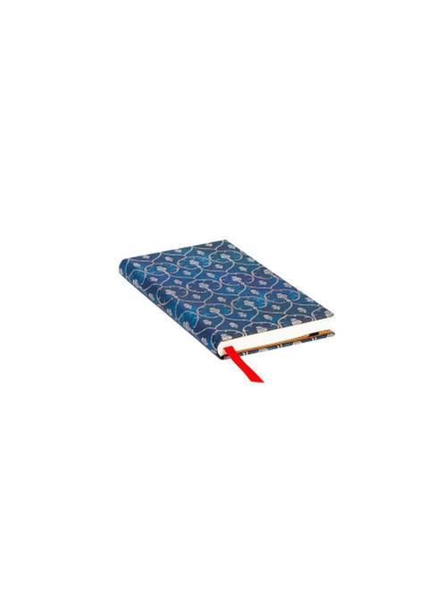Blue velvet slim lined notebook