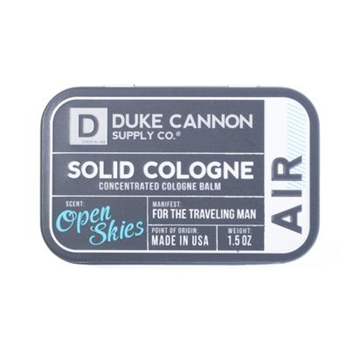 Solid cologne open skies scent