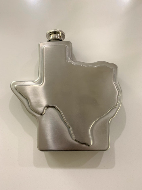 Texas shaped flask