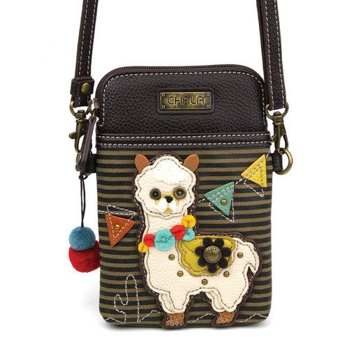 Llama crossbody cell phone bag