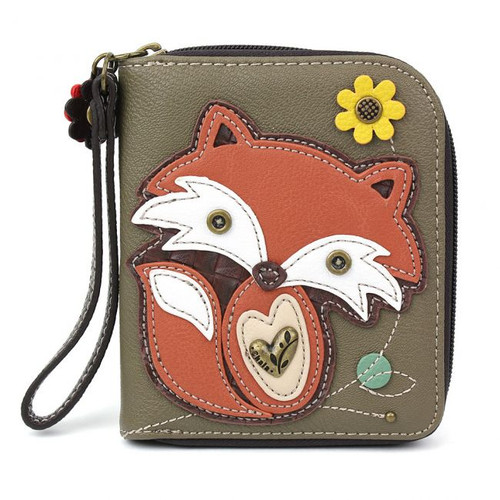 Fox zip around wallet olive