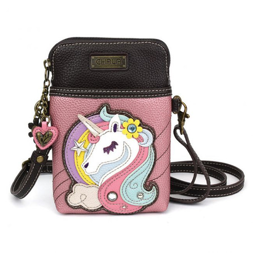 Unicorn cellphone crossbody pink
