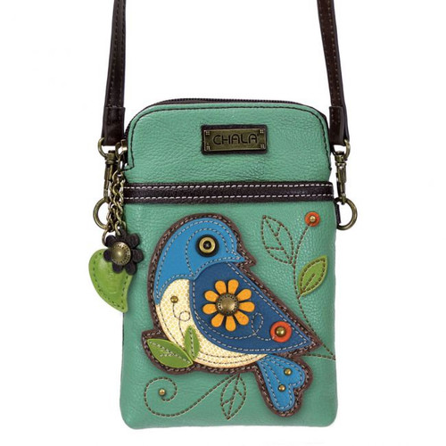 Bluebird cellphone crossbody teal