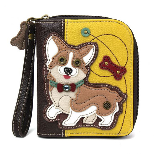 Corgi zip around wallet mustard