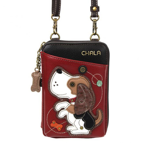 Dog wallet crossbody burg