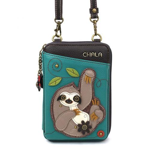 Sloth wallet crossbody teal
