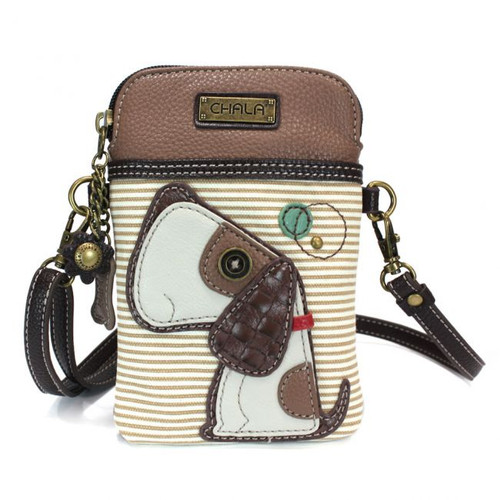 Dog crossbody brown stripe