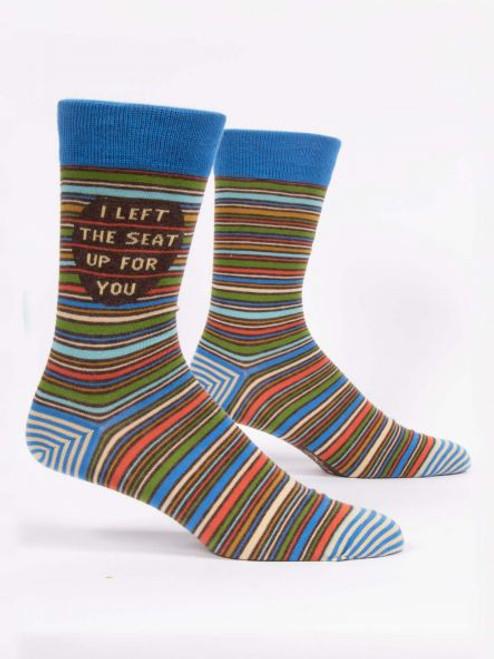 I left the seat up men's socks