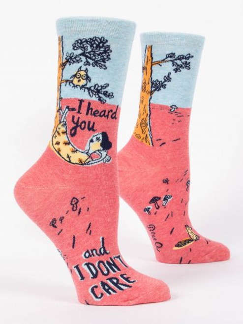 I heard you and I don't care socks womens