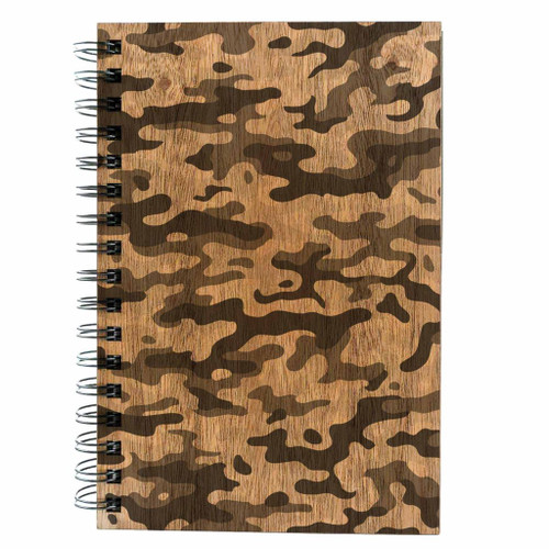 Camo wood journal
