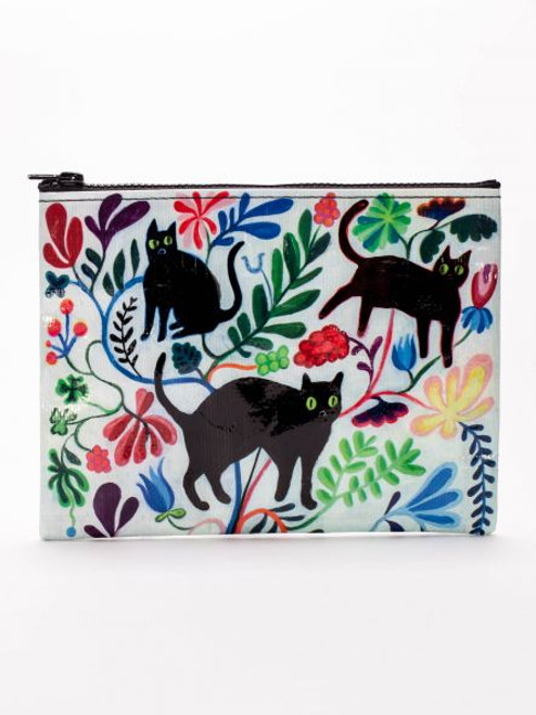 Black cat zipper bag