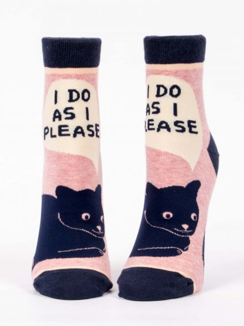 I do as I please womens sock