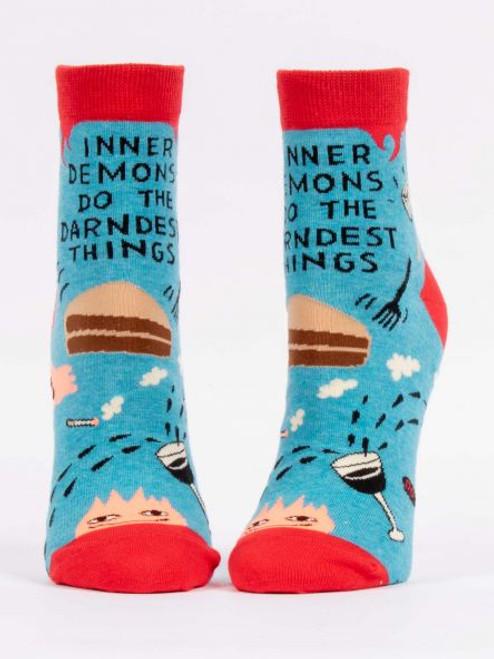 Inner demons do the darndest things women's socks