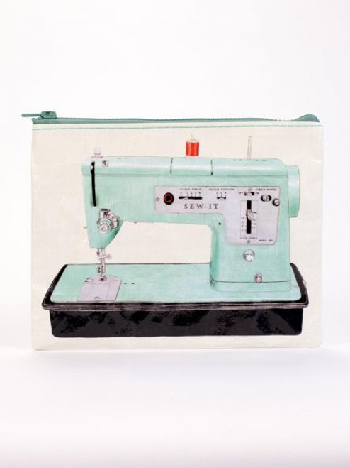 Vintage sewing machine zipper pouch