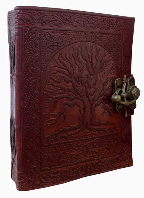 Tree of life leather journal 3.5x5