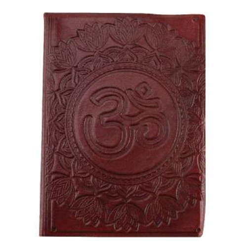Om leather journal 3.5x5