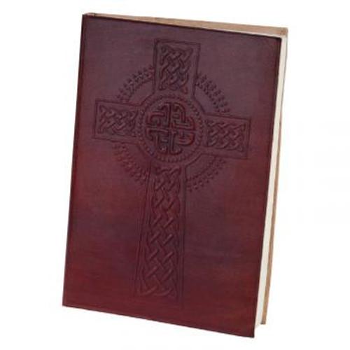 celtic cross leather journal 5x7