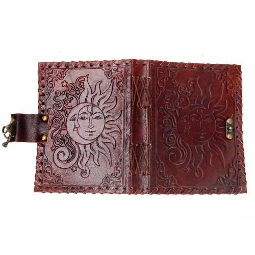 Sun/Moon leather journal 5x7