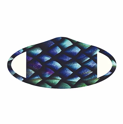 Colorful fish deco face mask