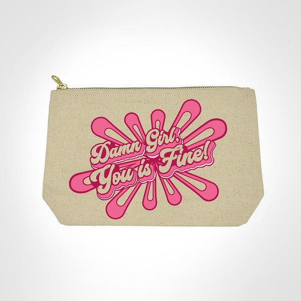 Damn girl makeup bag