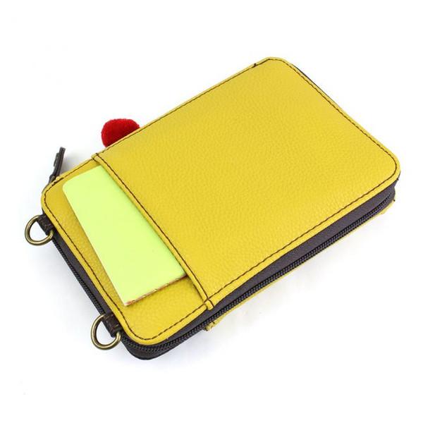 wallet crossbody llama mustard