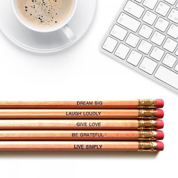 Positive affirmations good point pencils